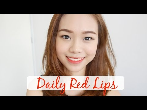 Maybelline One Brand Tutorial 2 | Everyday Red Lips Makeup | Eng Sub