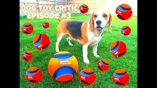 "Dog Toy Critic ""louie The Beagle "" Episode #3 : Chuckit Kick Fetch"