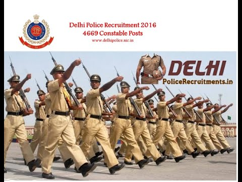 Delhi Police Constable Vacancy : 4669 Posts : last Date - 10/10/16