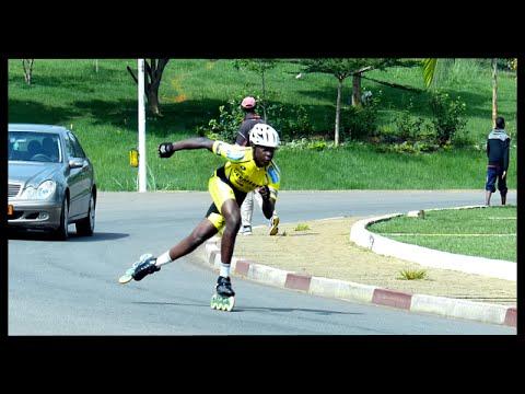 "Roller de vitesse Cameroun (Speed Skating ""Marathon"") + Freestyle Slalom & Yaoundé berlin"