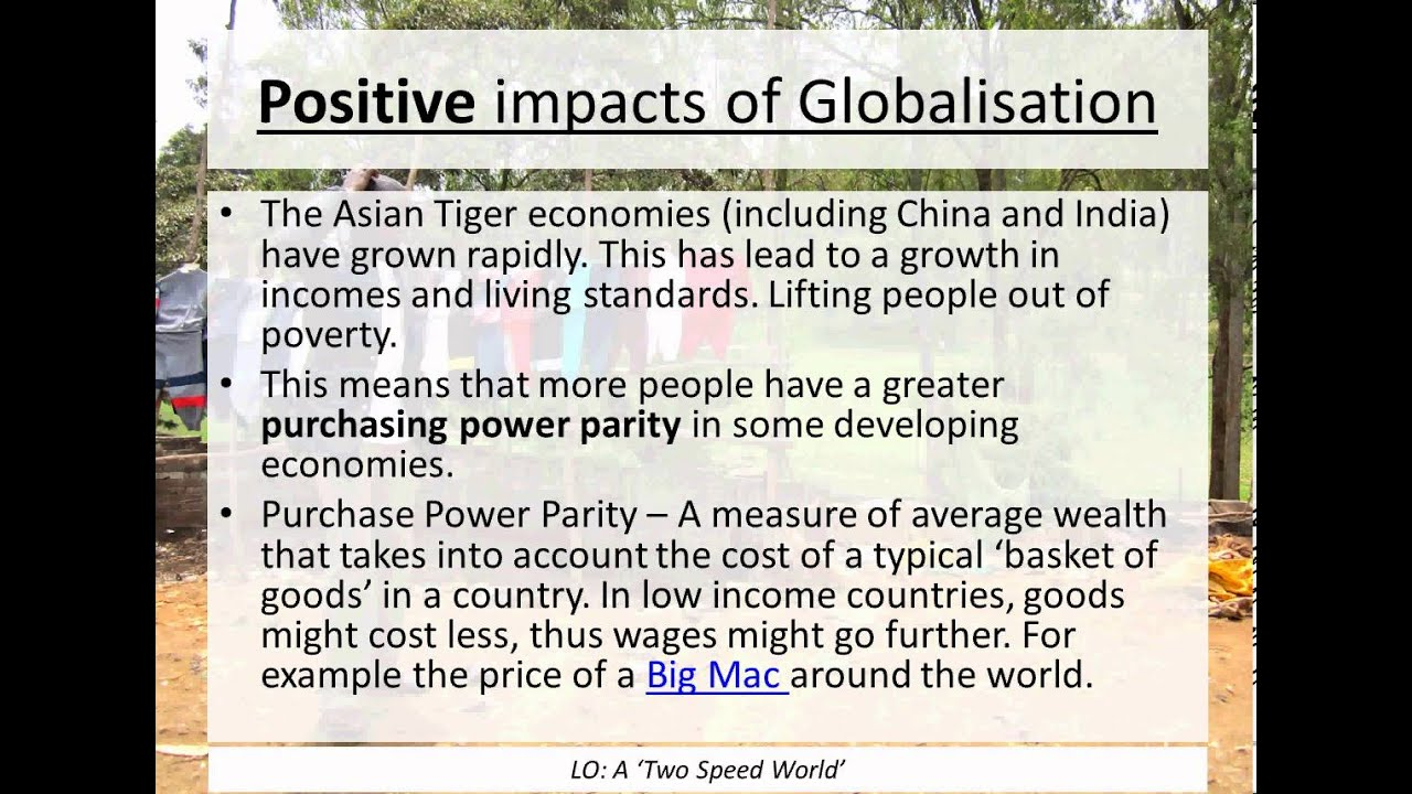effect of globalization on the uk Positive impacts of globalisation globalisation is having a dramatic effect - for good or ill - on world economies and on people's lives some of the positive.