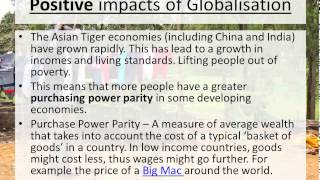 Two Speed World   Positive and Negative impacts of Globalisation - Geography