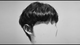 How to draw hair - demonstration