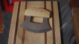 Ulu Knife and Matching Cutting Board by The Hungry Eskimo