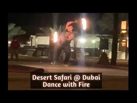 Amazing Fire dance performance at Desert Safari Camp Dubai #shorts