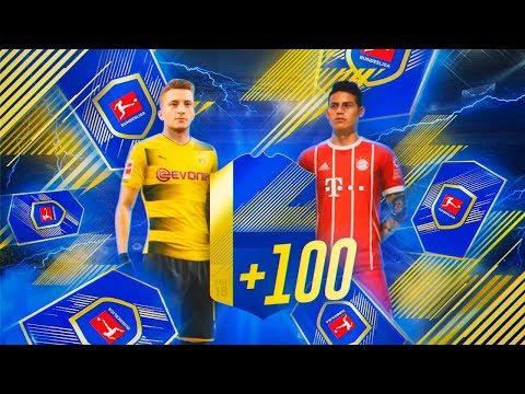 100 SOBRES PREMIUM DE JUGADORES BUNDESLIGA!! | FIFA 18