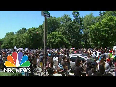George Floyd Protesters Take To Streets Across US For Third Weekend | NBC Nightly News
