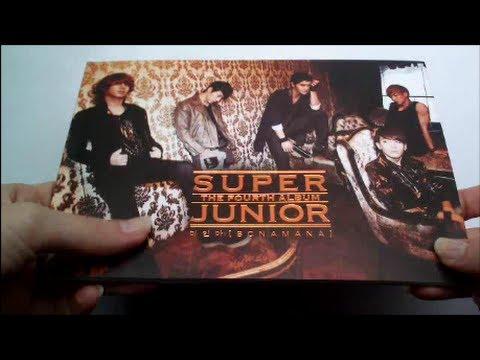 Unboxing Super Junior 슈퍼주니어 4th Studio Album Bonamana ...