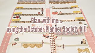 Plan with me using the October Planner Society kit   Planning With Eli