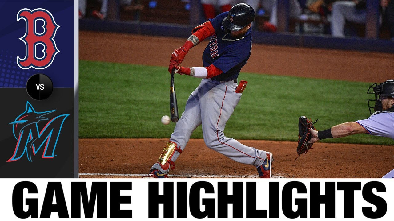 Plawecki, Devers back Eovaldi's outing in win | Red Sox-Marlins Game Highlights 9/17/20