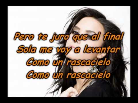 Demi Lovato - Rascacielo + Lyrics (Skyscraper Spanish Version)
