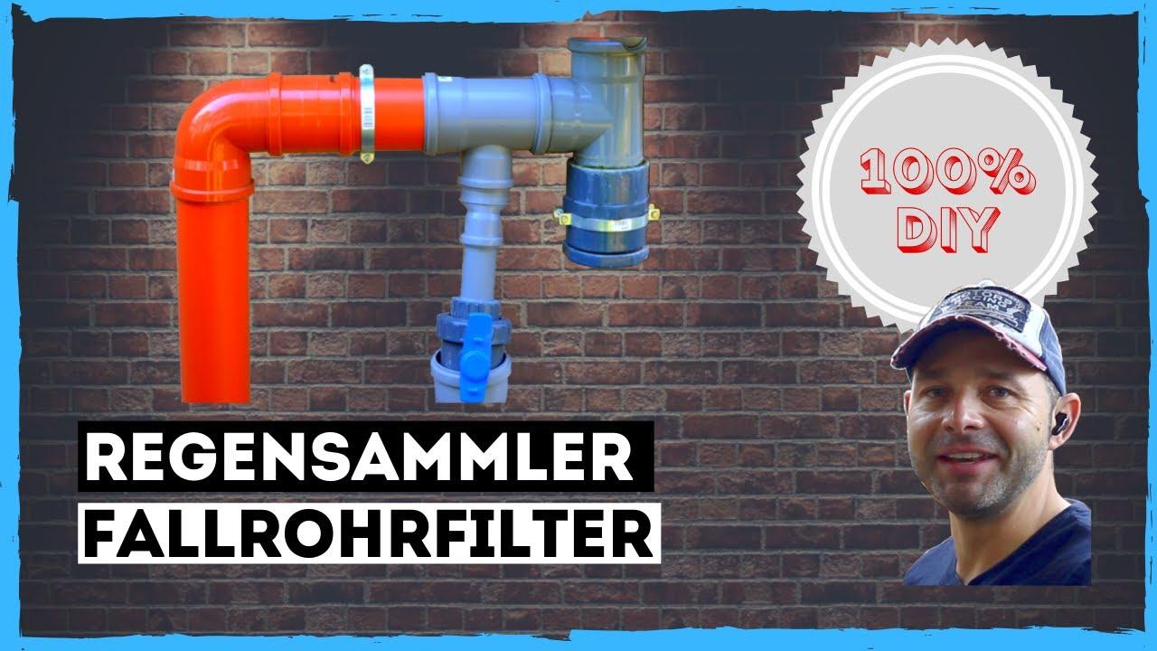 Regensammler Regenwasserfilter Fallrohrfilter Fallrohr Selbst