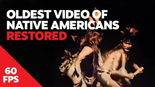 (60 FPS | HD) Buffalo Dance 1894 Restored - Oldest Known Footage of Native Americans