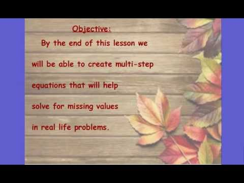 Lesson #13:  Word Problems Video Lesson (error on number 2)