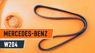 Kā un kad mainīt Ķīļrievu siksna MERCEDES-BENZ C-CLASS (W204): video pamācības