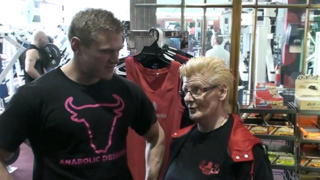"""Anabolic Designs Owner Joe Binley & Sibil """"Grandma"""" PeetersThe"""
