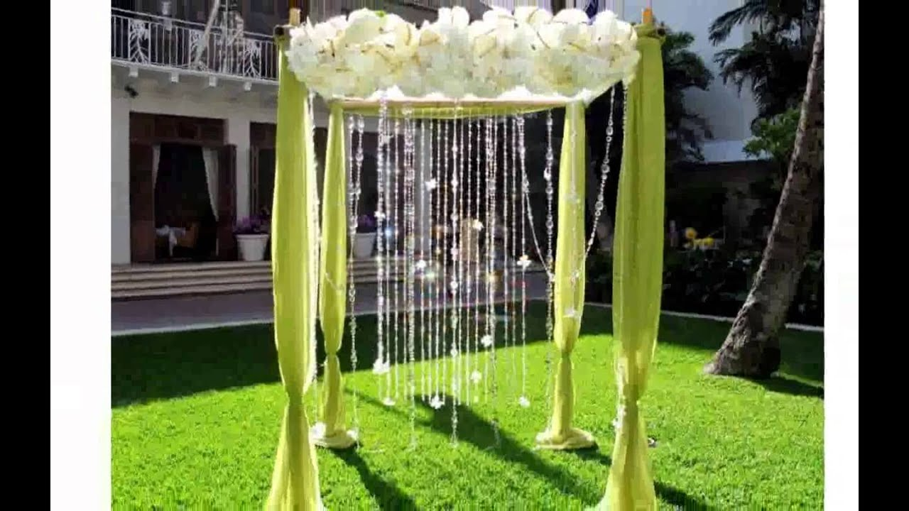 Wedding Garden Decoration - YouTube
