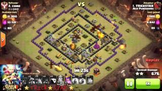 Clash of Clans Th9 Best Mix HOT 3 Star Strategy Dragon,Hog Rider, Balloon