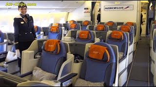 Aeroflot Boeing 777-300 Business Class Hongkong to Moscow [AirClips full flight series]