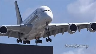5 Airbus A380 Low Approaches to LAX Los Angeles