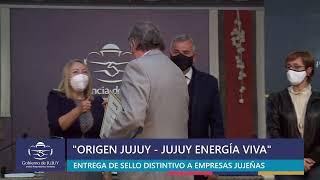 """#EnVivo: Entrega de distinciones """"Origen Jujuy – Jujuy Energía Viva"""" a empresas jujeñas"""