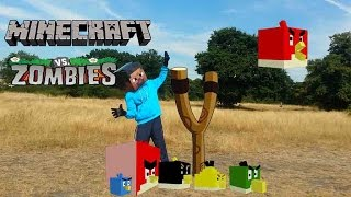 Repeat youtube video Real Life Minecraft steve and Angry birds vs Zombies