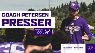 Football: Chris Petersen Press Conference (Aug. 26)