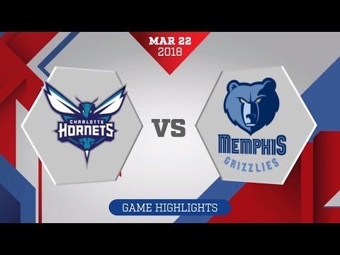 Memphis Grizzlies vs. Charlotte Hornets - March 22, 2018