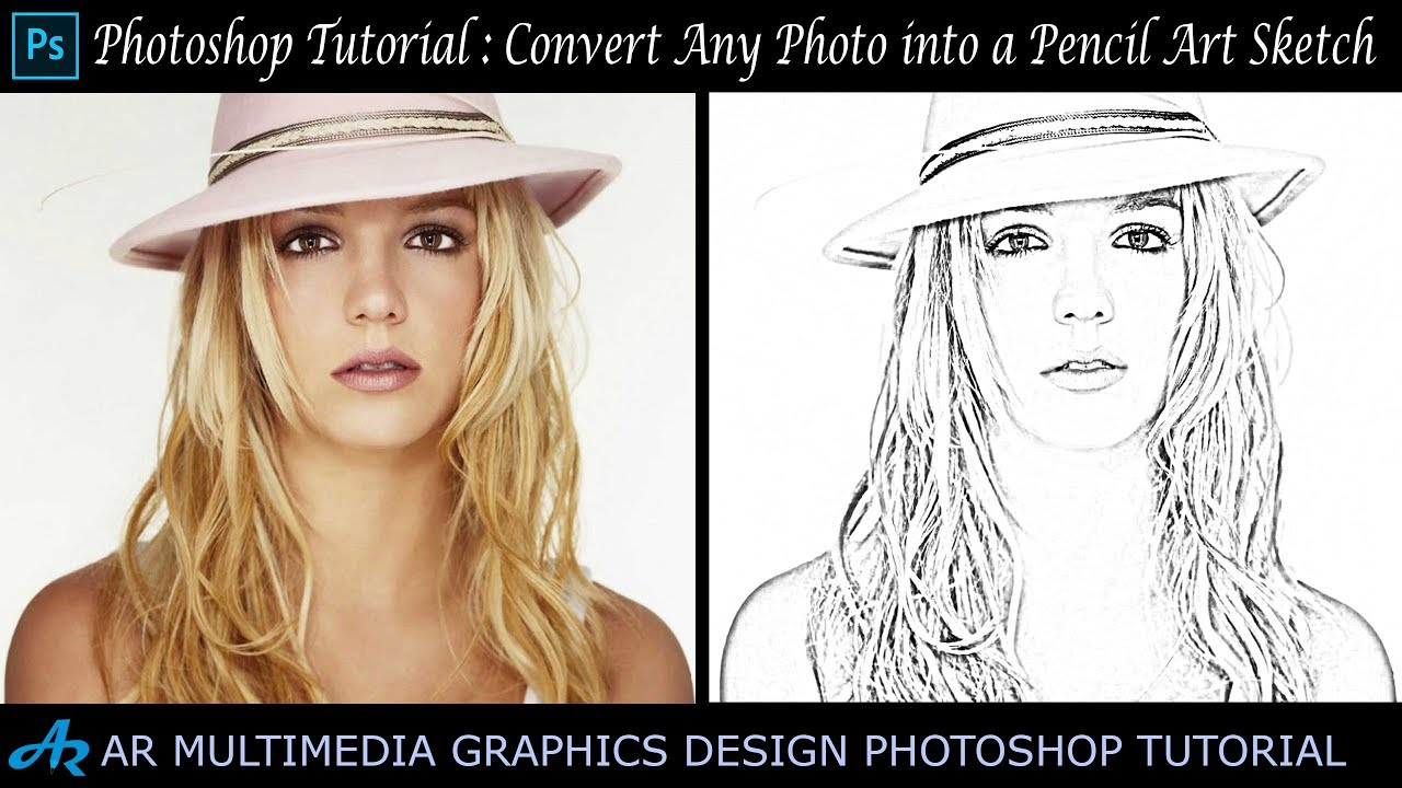 Photoshop tutorial pencil art sketch in photoshop cc 2018convert photo in to pencil drawing ps