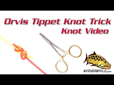 Orvis Tippet Knot Tying Hemostats Trick