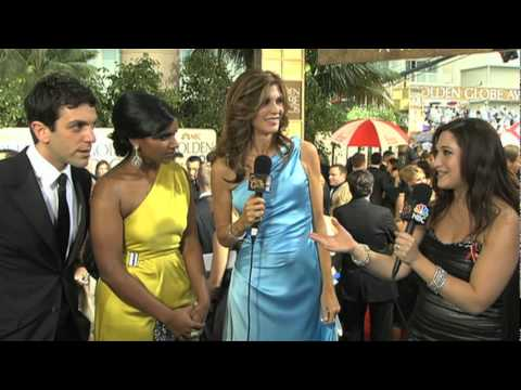 Golden Globes 2010 Red Carpet Novak & Kaling