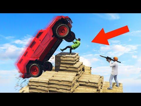 DESTROY THE PYRAMID PLATFORM CHALLENGE! (GTA 5 Funny Moments)