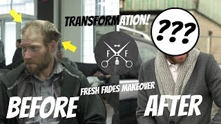 AMAZING HOMELESS MAKEOVER | Jeff | Fresh Fades Barbershop