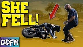 🔴She Dropped Her Bike!! - Live Edit & Hangout