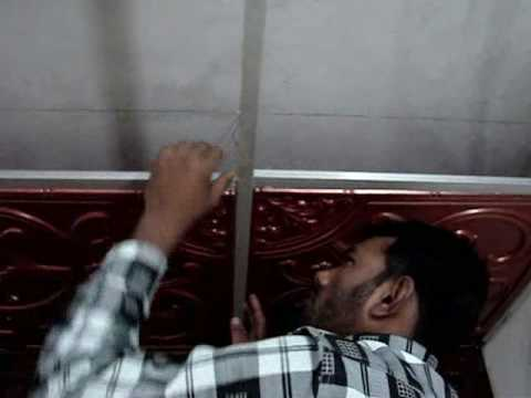 Diy Do It Yourself Remodeling Pvc Drop Ceiling Grid Youtube