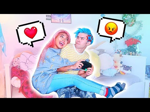 DISTRACTING MY BOYFRIEND WHILE HE PLAYS VIDEO GAMES PRANK *i've Never Seen Him This Mad...*