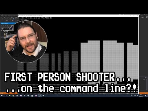 Command Line First Person Shooter, Doom, Wolfenstein3D?? Yup...