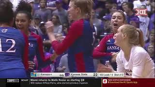Kansas vs Kansas State Volleyball Highlights