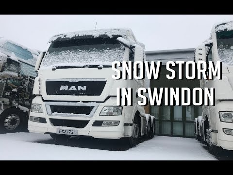 Snow Storm In Swindon!