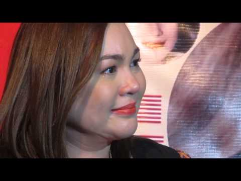 claudine barretto watching the slideshow..teary eyed..