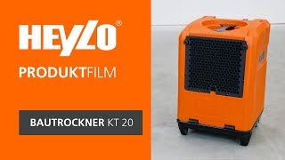 Bautrockner KT 20 [Heylo]: Wie bediene ich den Trockner nach Wasserschäden (oder Neubautrocknung)?
