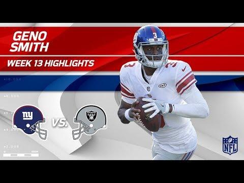Geno Smith Highlights | Giants vs. Raiders | Wk 13 Player Highlights