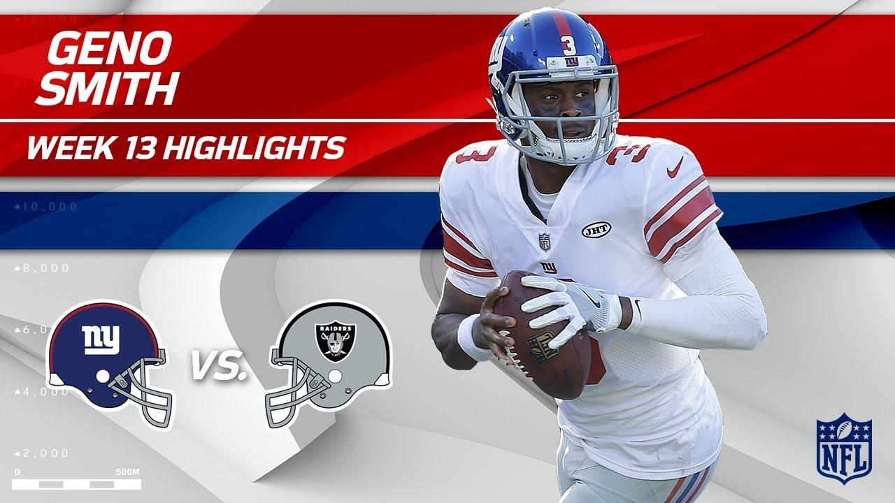 sports shoes 336da 05e11 Geno Smith Highlights | Giants vs. Raiders | Wk 13 Player Highlights