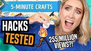 Testing VIRAL LIFE HACKS From 5 MINUTE CRAFTS... What ACTUALLY WORKS?!