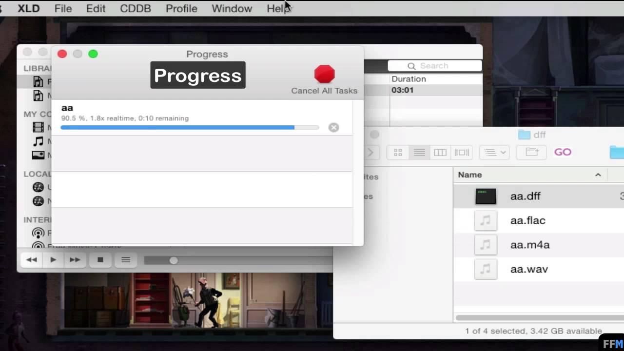 Convert DFF to FLAC,WAV,M4A (Apple Lossless) Free on Mac