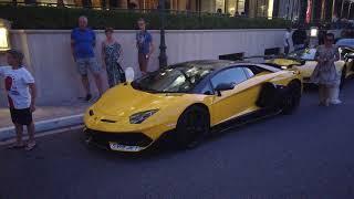 Brabus G500 4x4 Adventure, Lamborghini SV-J, Bugatti Chiron and more in Monaco [4k 60p]