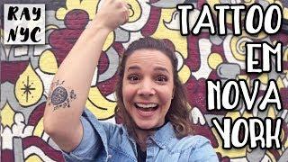 Fiz tatuagem em Nova York!