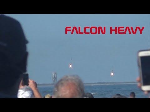 Falcon Heavy from the Cocoa Beach Pier