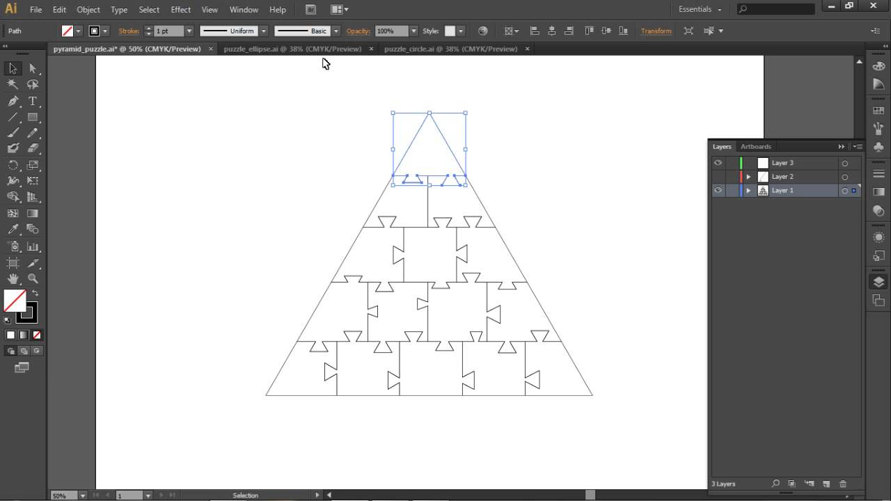 Create Puzzle Pieces With Illustrator And Photoshop Youtube