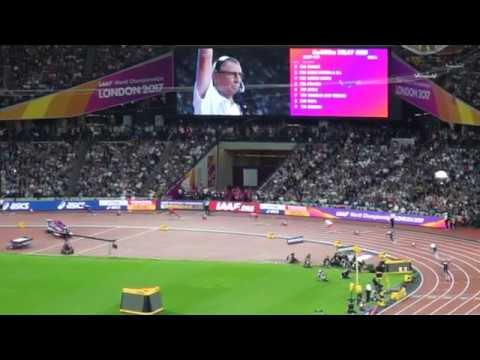 4 x 400m mens relay- World Championship Athletics London 2017 won by Trinidad and Tobago